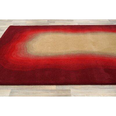 nuLOOM Modella Red Ombre Border Rug