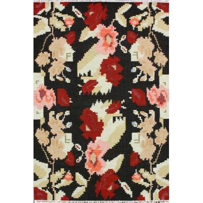 nuLOOM Texture Black Flowers Rug