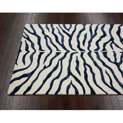 nuLOOM Earth Navy Blue Plush Safari Rug