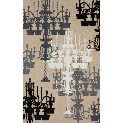 nuLOOM Pop Sandy Beige Chandelier Novelty Rug