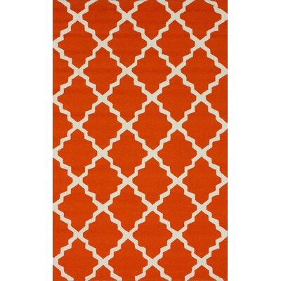 nuLOOM Homestead Orange Lannah Trellis Rug