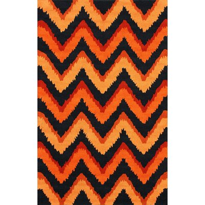 nuLOOM Fergie Orange Chic Chevron Rug