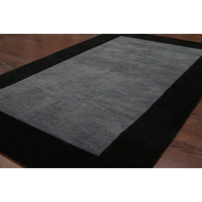 nuLOOM Fancy Charcoal Solid Trim Rug