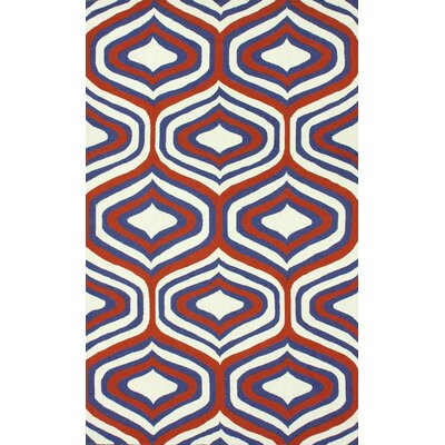 Trellis Orange Sandra Rug