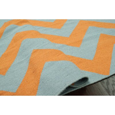 nuLOOM Moderna Orange Chevron Rug