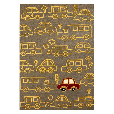 nuLOOM Kinder Cars On The Move Kids Rug