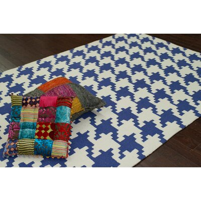 nuLOOM Trellis Regal Blue Houndstooth Rug