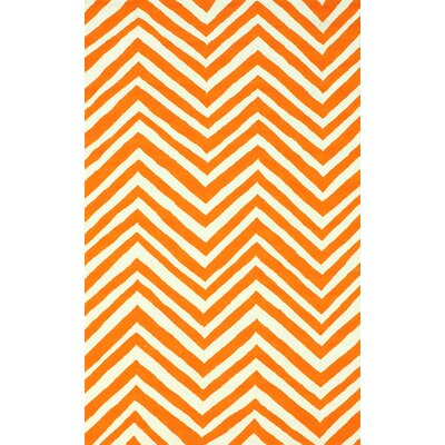 nuLOOM Veranda Orange Chevron Rug
