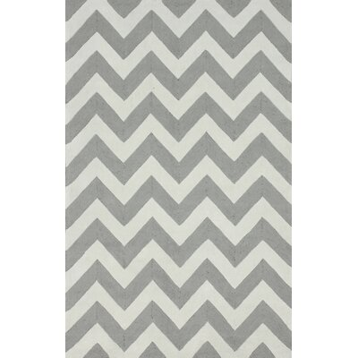nuLOOM Homestead Soft Grey Meredith Chevron Rug