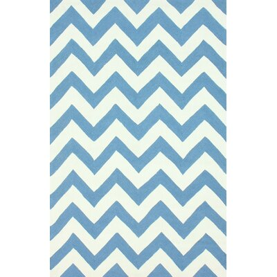 nuLOOM Homestead Blue Meredith Chevron Rug