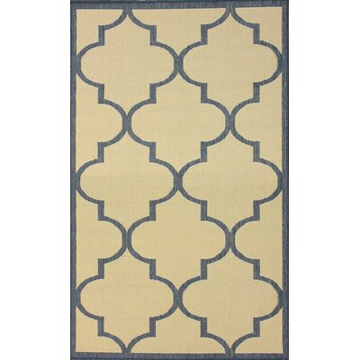 Villa Outdoor Blue Double Trellis Rug
