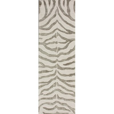Earth Grey Radiant Zebra Rug