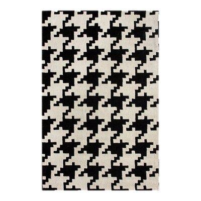 nuLOOM Magnifique Houndstooth Black/White Rug
