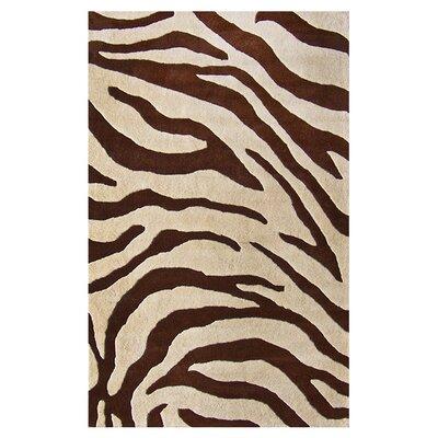 nuLOOM Moderna Brown Zebra Print Rug