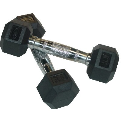 Valor Athletics Rubber Hex Dumbbell (Pair)