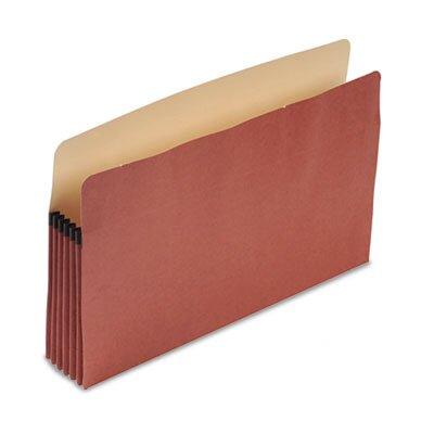 "Pendaflex® Recycled Expansion File Pocket, 5 1/4"" Expansion, Legal Size, Red Fiber"