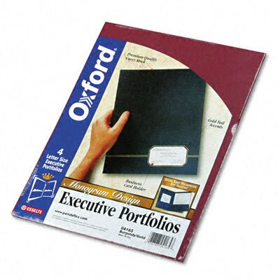 Pendaflex® Oxford Monogram Executive Twin Pocket Folders
