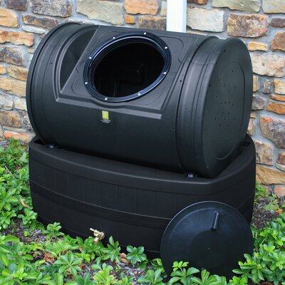 Good Ideas Compost Wizard Hybrid 7 Cu. Ft. Tumbler Composter and 47 Gallon Rain Barrel