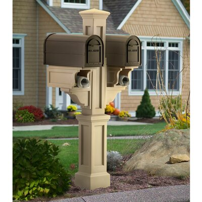Mayne Inc. Rockport Double Mailbox Post