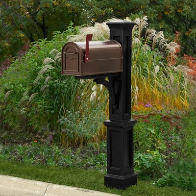 Mayne Inc. Newport Plus Double Mailbox Post