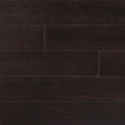 "CFS Flooring Strand Woven 5"" Solid Bamboo Flooring in Python Brown"