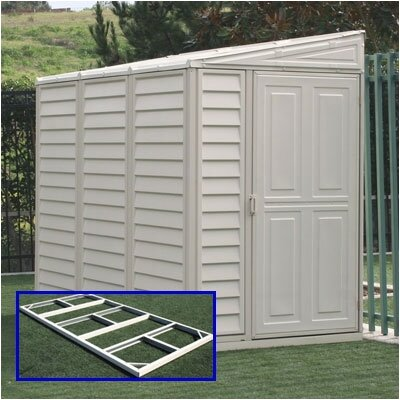 "Duramax Building Products SideMate 4' W x 7'10"" D Vinyl Lean-To Shed"
