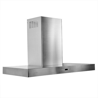 "Cavaliere Stainless Steel 42"" x 24"" Island Mount Range Hood with 900 CFM"