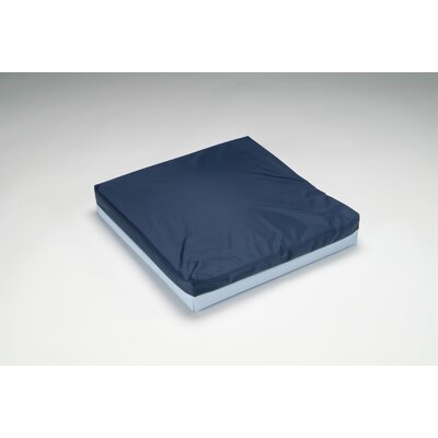 Total Comfort Poly-Filled Full Wheelchair Cushion with Blue Polycotton / Rip-Stop