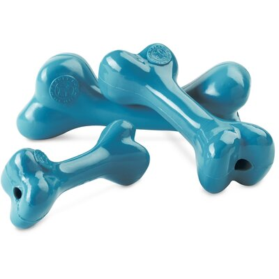Planet Dog Old Soul Orbee-Tuff Bone Dog Toy in Teal