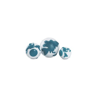 Planet Dog Old Soul Orbee-Tuff Orbee Dog Toy with Treat Spot in Silver / Teal