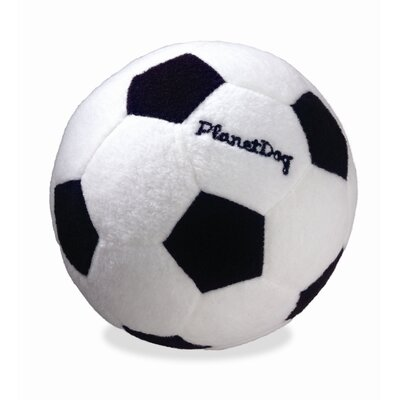 Planet Dog Squeaky Plush Soccer Ball Dog Toy