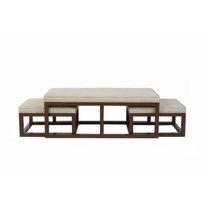 Belle Meade Signature Chatham Coffee Table with Nesting Stools