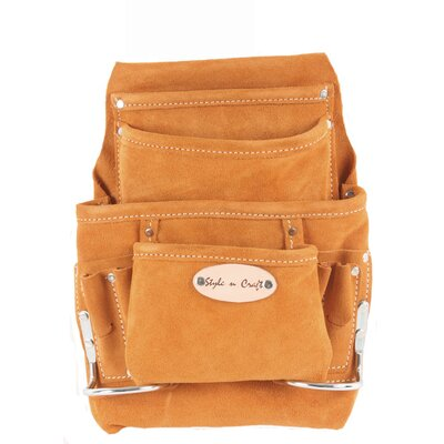 Suede Leather 10 Pocket Nail and Tool Pouch
