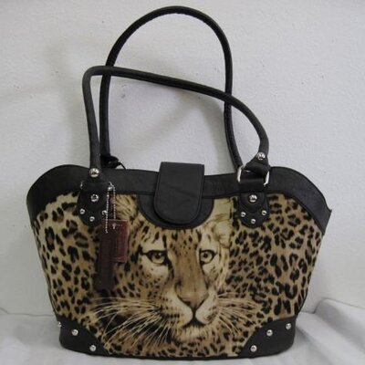 Leopard Handbag Pet Carrier