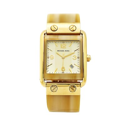 Michael Kors Women's Goldtone Horn Bangle Watch