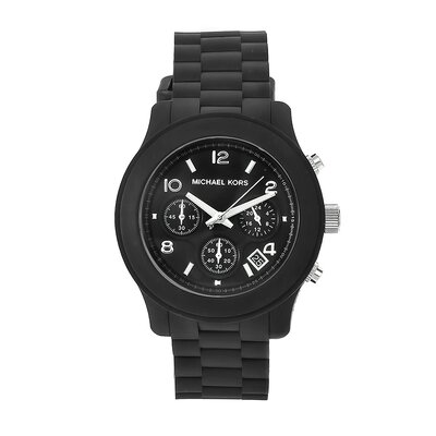 Michael Kors Women's Classic Black Rubber Watch