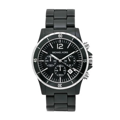 Michael Kors Women's Black Plastic Watch