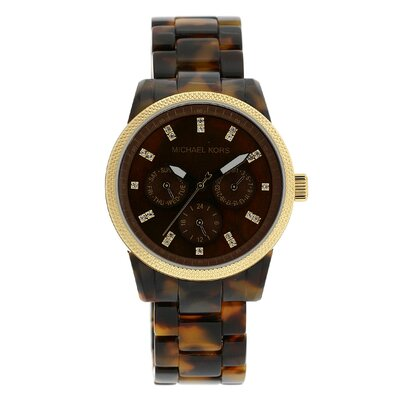 Michael Kors Women's Jet Set Watch in Tortoise