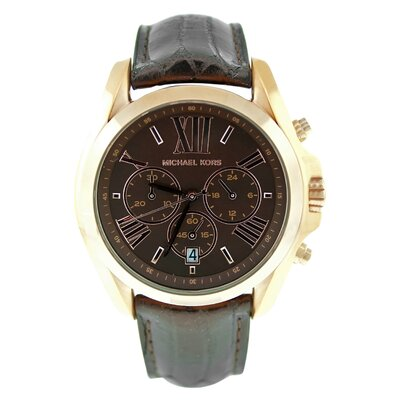 Michael Kors Women's Classic Watch with Brown Chronograph Dial
