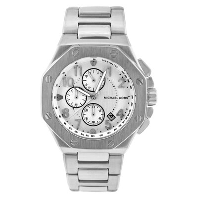 Michael Kors Men's Knox Watch with Silver Chronograph Dial