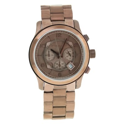 Michael Kors Women's Runway Watch with Brown Chronograph Dial