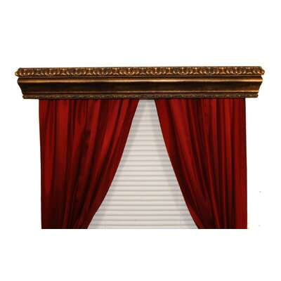 BCL Drapery Hardware Marion Custom Moulding Double Curtain Cornice