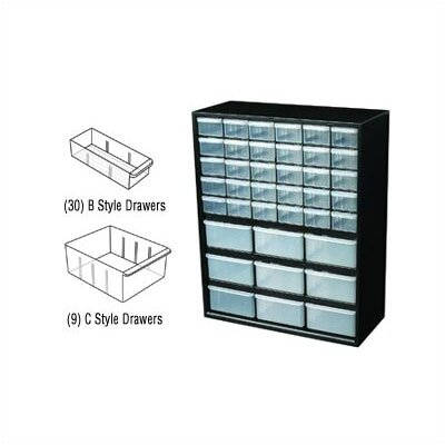 Flambeau Parts-Station 39 Drawer Plastic Parts Cabinet