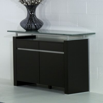 "Star International 42"" Ritz Buffet with Crackle Glass"