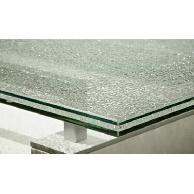 Star International Tiffany Dining Table with Crackle Glass