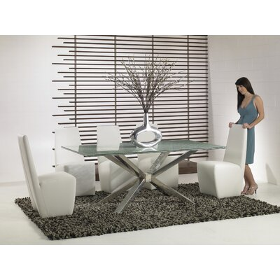 Star International Mantis 6 Piece Crackle Glass Dining Set with Crackle Glass