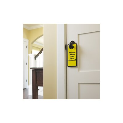 Parent Units Garage and Basement Door Safety Sign