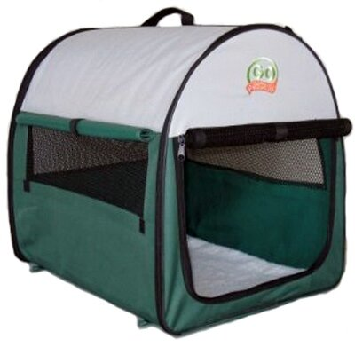 Go Pet Club Soft-Sided Dog Crate with Mat in Green