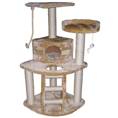 "Go Pet Club 47.5"" Faux Fur Cat Tree"