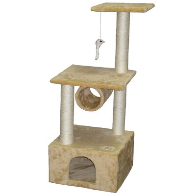 "Go Pet Club 42.5"" Cat Tree in Beige"